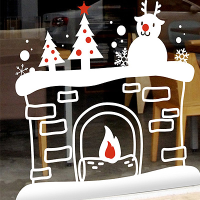 Christmas wall stickers personalized holiday cartoon christmas christmas santa claus christmas tree christmas window glass wall stickers