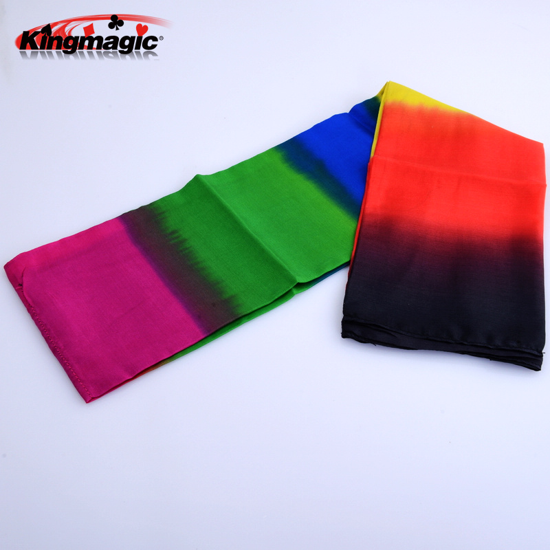 Chromotropic silk scarves silk scarf black scarf change color rainbow scarf magic props