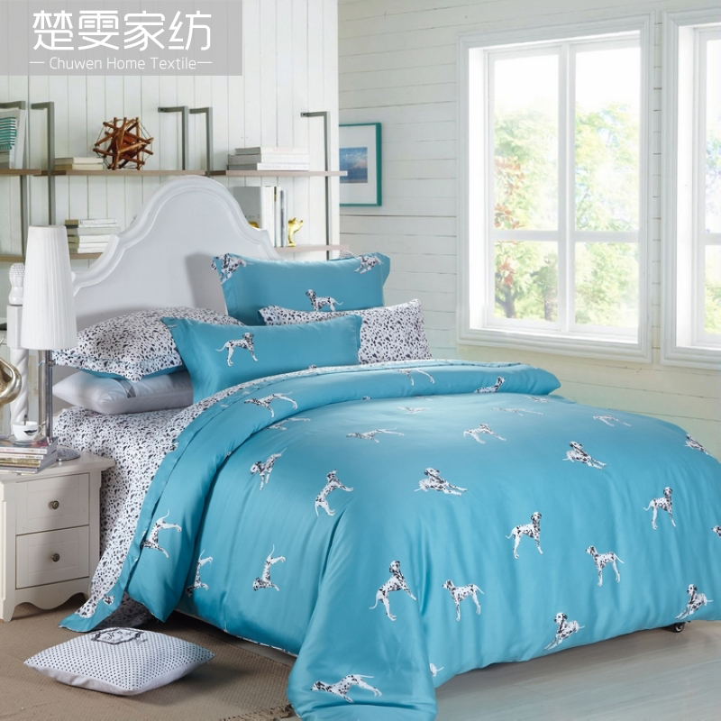 Chu wen textile 2016 new spring and summer bedding sided tencel denim pieces 100% pure tencel linen blue