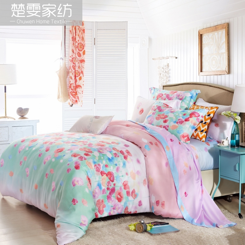 Chu wen textile 2016 new spring and summer sided tencel denim pieces bedding 100% pure tencel linen jorvi