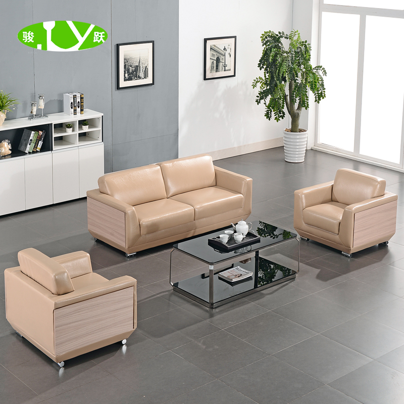 Chun yue office sofa sofa table combination of three bits customers'interest by the cabinet of ministers of the company reception lounge sofa