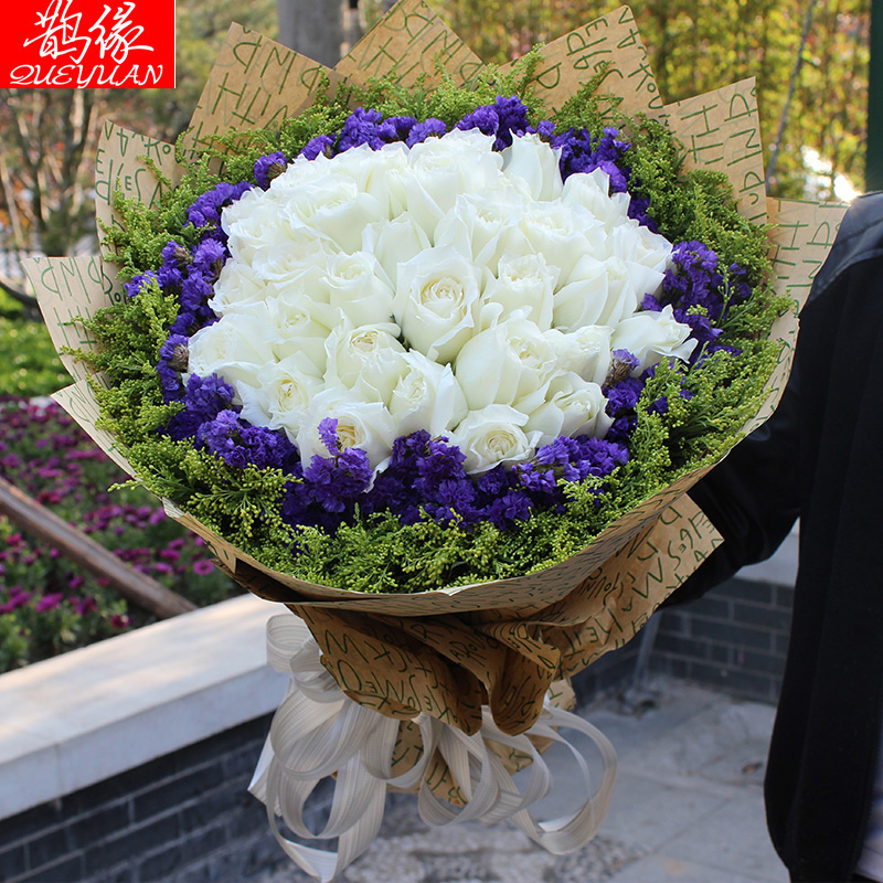 China delivery white roses china delivery white roses shopping get quotations city nationwide flower delivery to send his girlfriend a birthday bouquet of white roses beijing shanghai mightylinksfo Image collections
