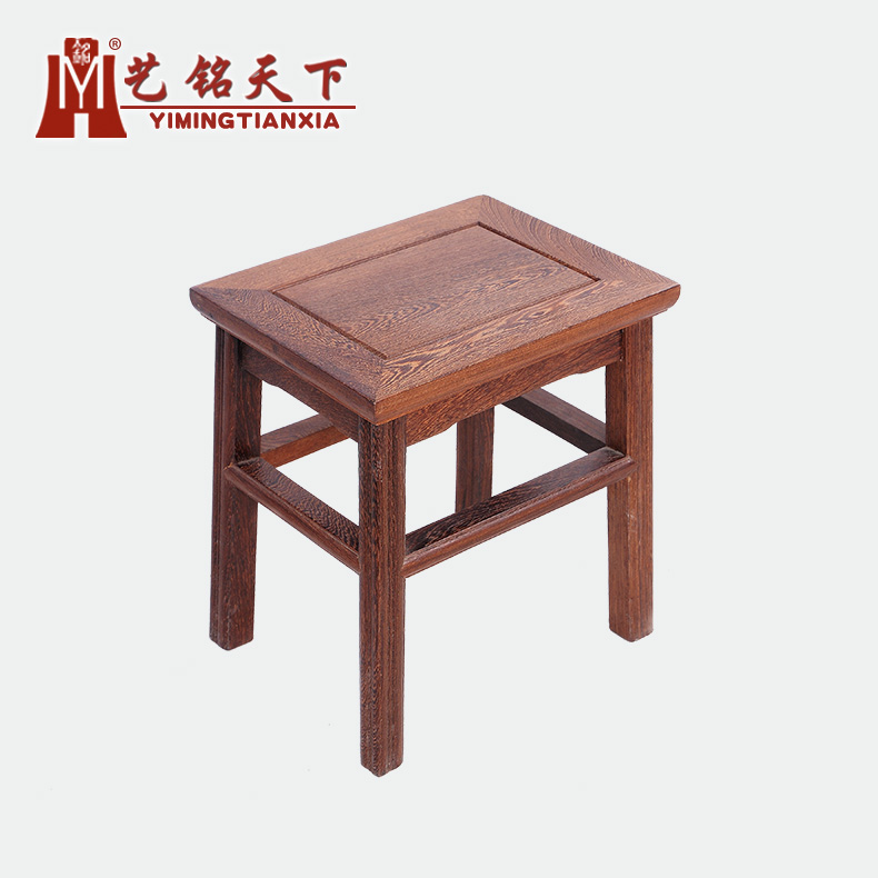 Classical chinese ming and qing mahogany furniture wenge wood stool stool stool mahogany wood small stool stool stool wood fangdeng