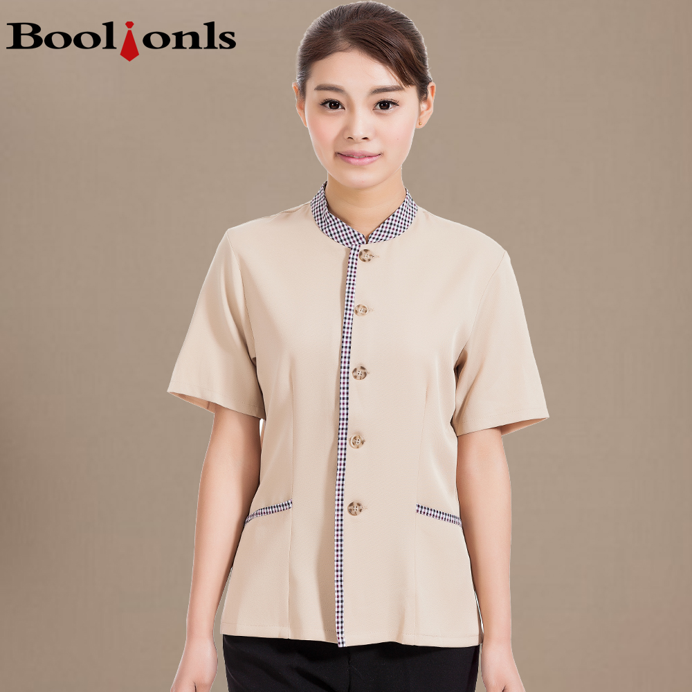 Cleaning clothes female cleaners cleaning clothes summer short sleeve short sleeve female waiter clothing hotel cleaning staff room
