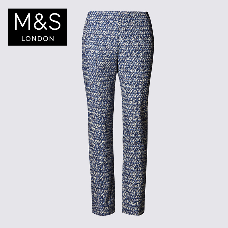 Clearance m & amp; s/martha female buttonsafe can T576057M jacquard pencil pants casual pants