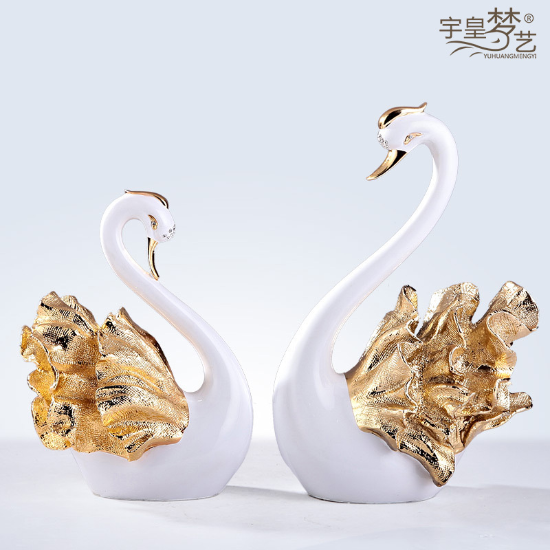 [Clearance] swan wedding gift ideas living room tv cabinet ornaments crafts home decorations and practical wedding gifts
