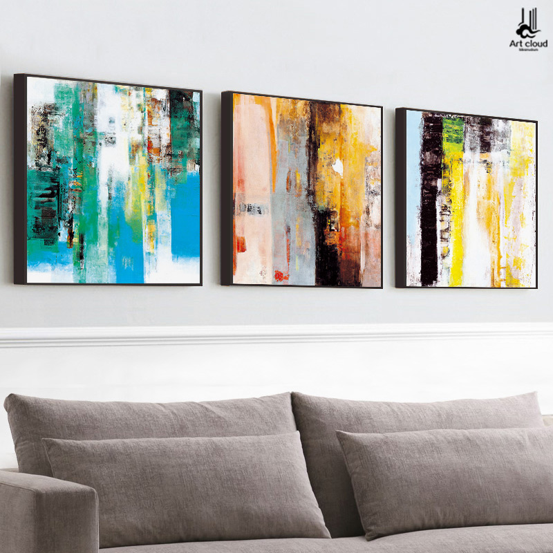 Get Quotations · Cloud Art Abstract Painting Decorative Painting The Living  Room Modern Minimalist Triple Sofa Backdrop Painting Paintings