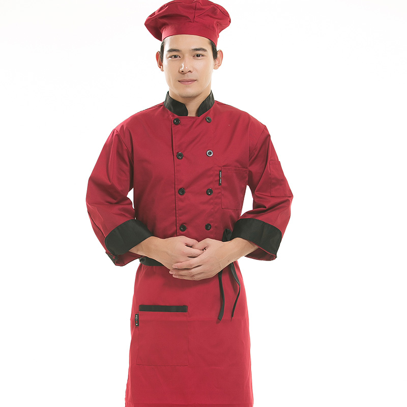 Cloud thought plume sleeved chef service hotel chef service hotel chef uniforms fall and winter clothes cake bakers kitchen chef uniforms