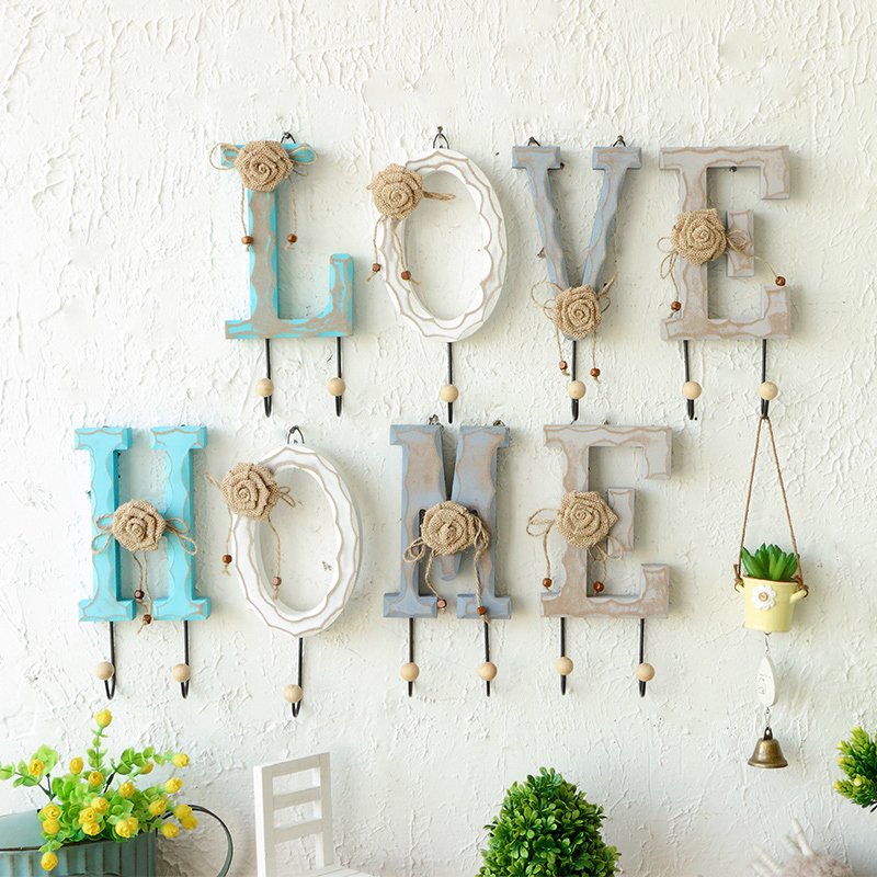 Coat hooks european creative home accessories wood coat hooks coat hooks wall clothing store clothing store with sea home decorative wall hooks