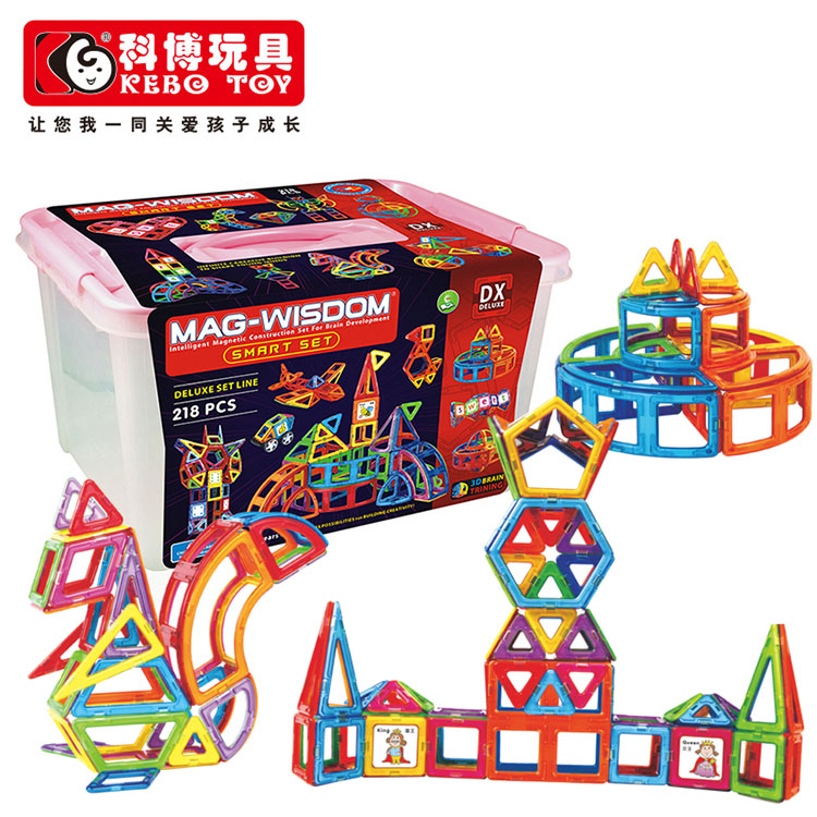 Cobo magnetic sheet magnetic building blocks variety pulling da da da magnetic building blocks constructed piece of magnetic building blocks 218 pcs