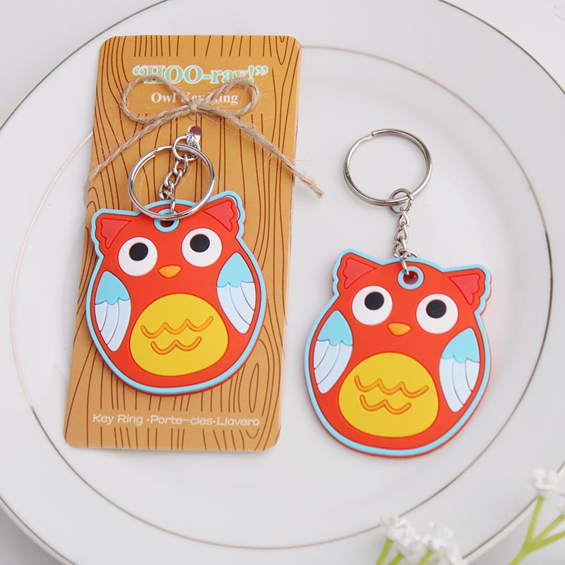 Cocoa daiyi creative birthday gift super meng owl birthday gift keychain key ring specials