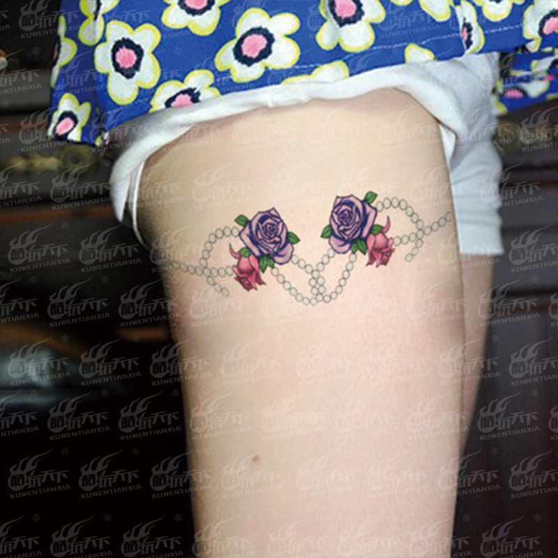 Coldplay ornamentations black legs in the world of tattoo stickers rose/painting tattoo stickers waterproof arm arm