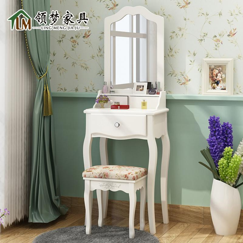 Collar dream furniture korean mini makeup vanity dressing table stool suit fashion simple pastoral small apartment bedroom dressing table