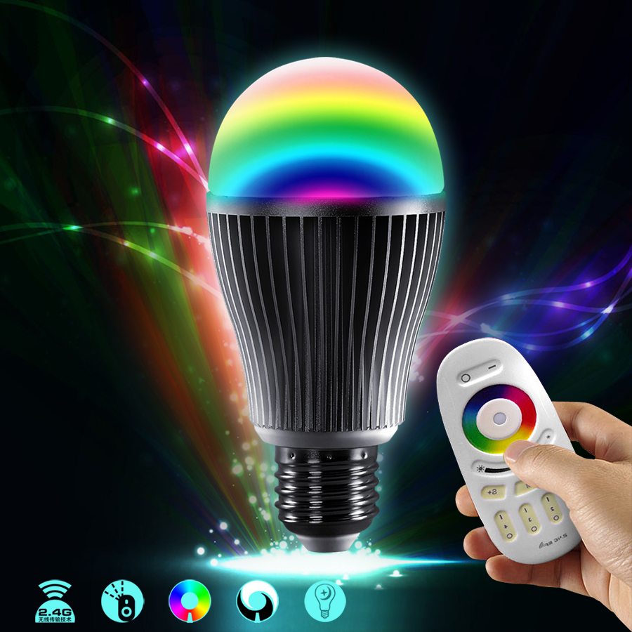 Colorful led light bulb light bulb e27 energy saving intelligent dimmer wireless remote control color lights can change color temperature to create an atmosphere