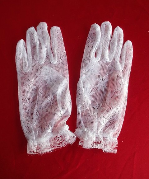 Colourful makeup park mall authentic 2015 new bride wedding dress short gloves