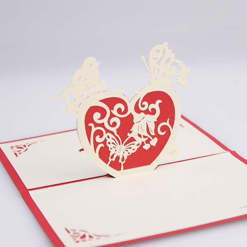 Commodities ni 3d stereoscopic handmade paper sculpture greeting cards birthday greeting cards confession valentine soulmate love greeting cards greeting cards