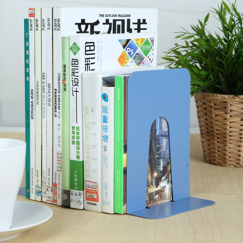 Concerted a1100 bookends books bookend book by creative fashion metal 9 inch large office school supplies wholesale