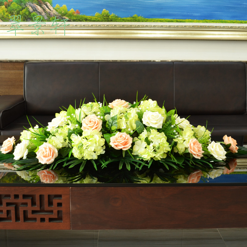 Conference table flowers artificial flowers fake plastic flower silk flower decoration living room hotel office suite rose hydrangea