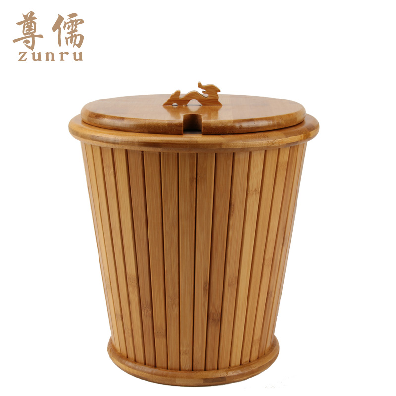 Confucian respect for the bamboo detong tea bucket detong tea leaves tea bucket bucket hot tea road accessories
