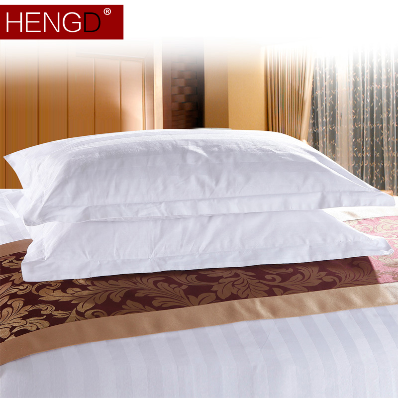 Constant code textile hotel linen hotel bedding made of pure white satin pillowcase cotton pillowcase