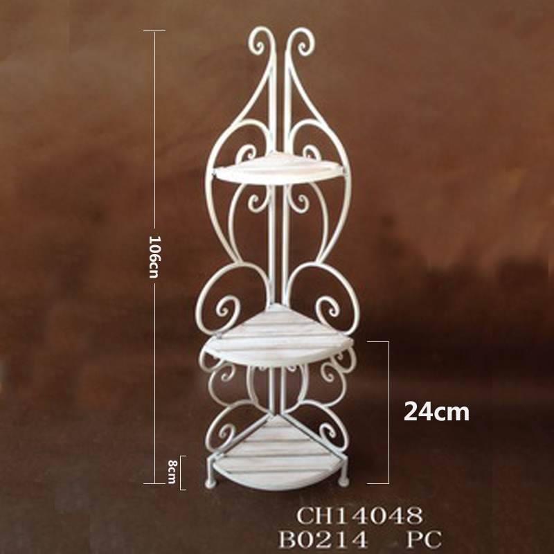 Continental iron bathroom angle bracket shelving rack wrought iron racks bathroom floor bathroom floor