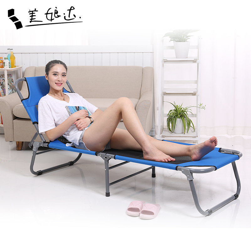 Convenient office folding bed twin bed siesta nap bed recliner couch line army bed simple bed accompanying bed