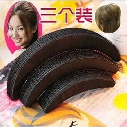 Cool decorative dish made fluffy pad hair puff paste pad hair hair salon hair styling tool kit korea headdress hair accessories