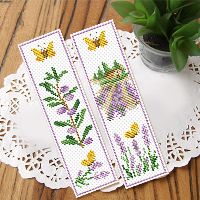 Cool stitch stitch new living room set bookmarker lavender garden new special