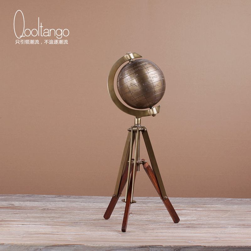 Cool tange soft fitted modern chinese to do the old copper tellurion with stand desktop decoration home furnishings den