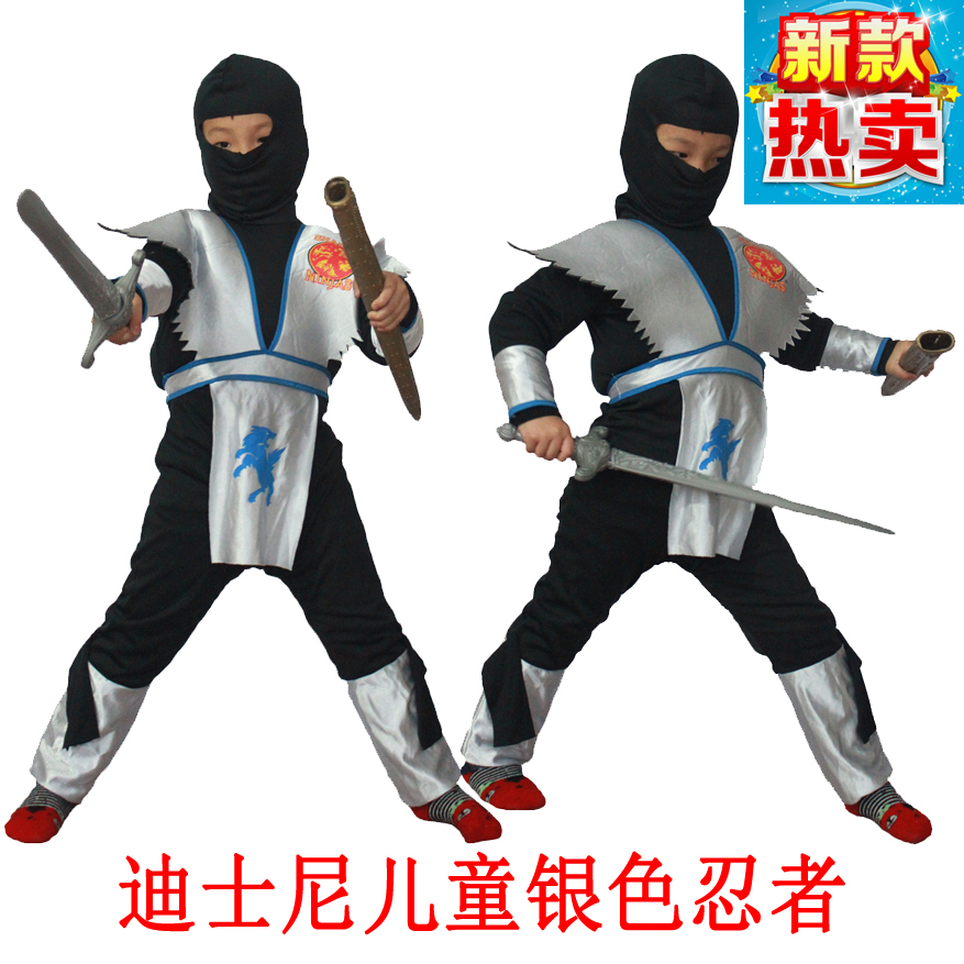 Cos cheung man halloween children's day performance clothing adult black ninja samurai clothes costumes male
