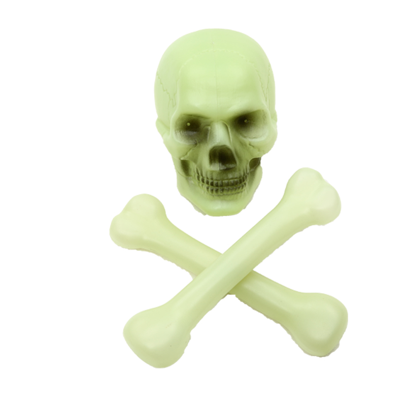 Cos cheung man halloween dance party props whole person horror skull luminous luminous luminous bones