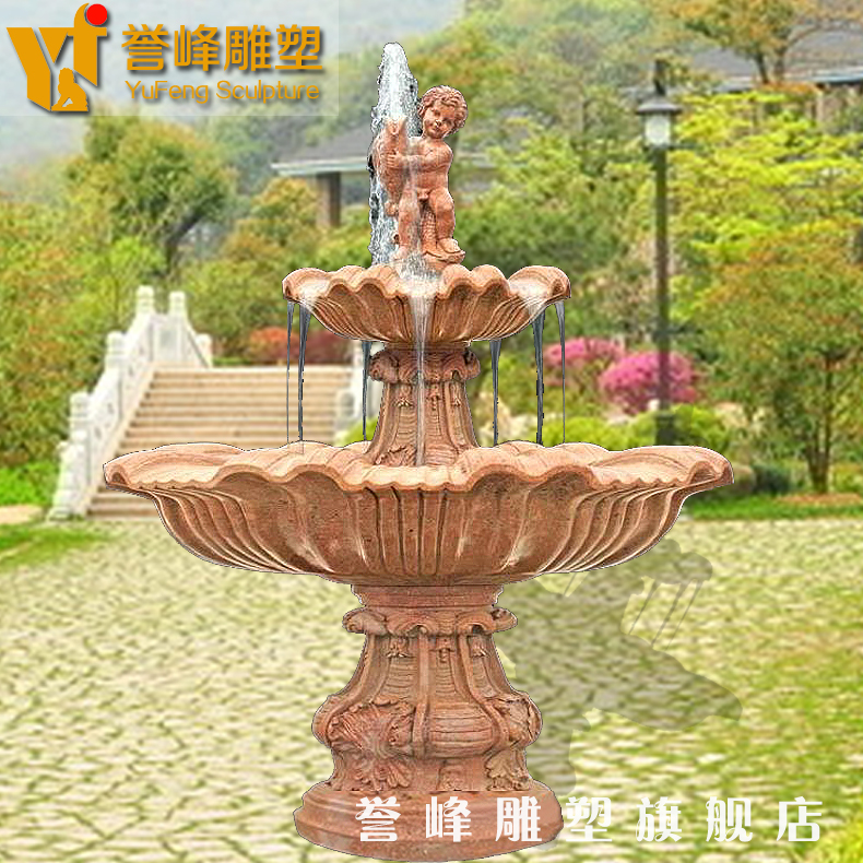 [Cosmos] marble fountain water fountain sculpture quyang stone euclidian one thing sunset red fountain fountain
