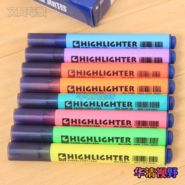 Costa sta 3240 triangle rod highlighter marker pen color focus marker pen water 8 color options