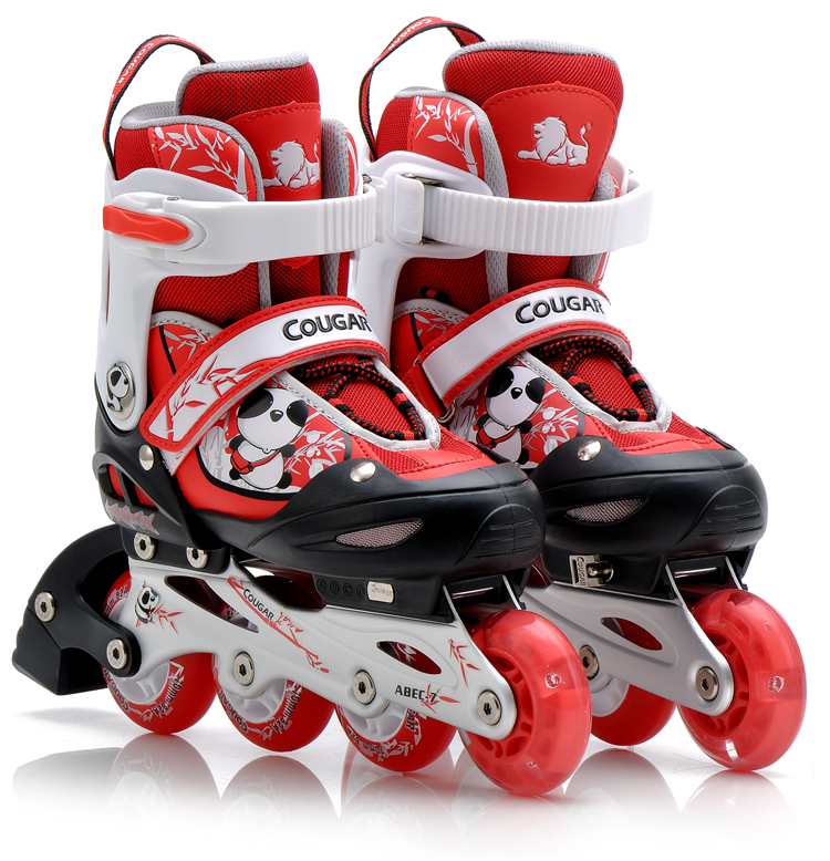 Cougars authentic skate skates roller skates adjustable children's full suite skate skate shoes for men and women