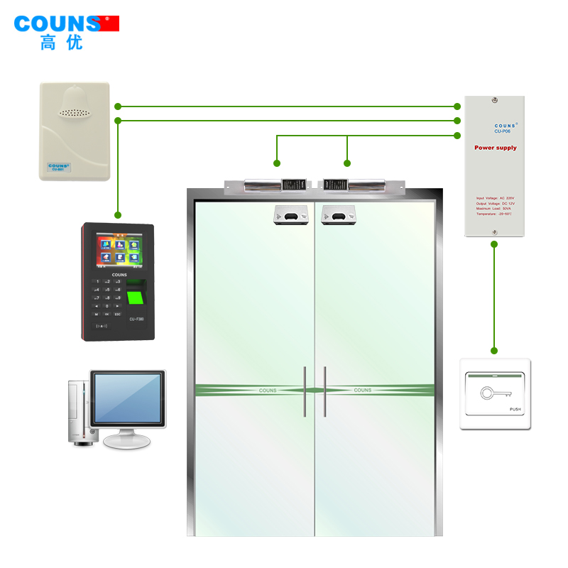 Couns/high priority access control systems access the entire suite of intelligent color F380T networking fingerprint attendance access control one