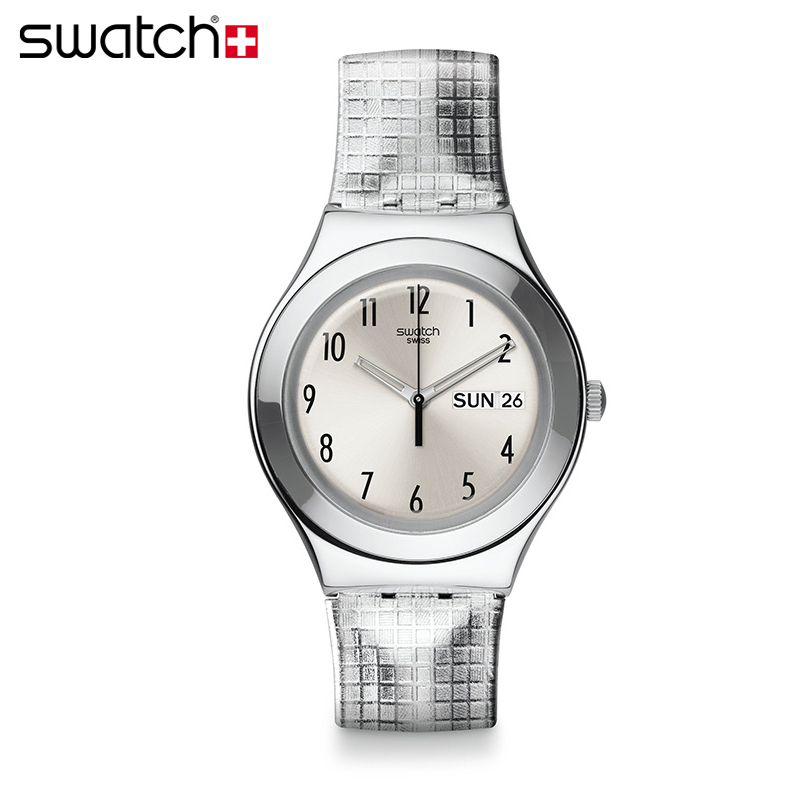 Counter genuine swatch swatch watches 2013 autumn and winter metal watch silver shine ygs773