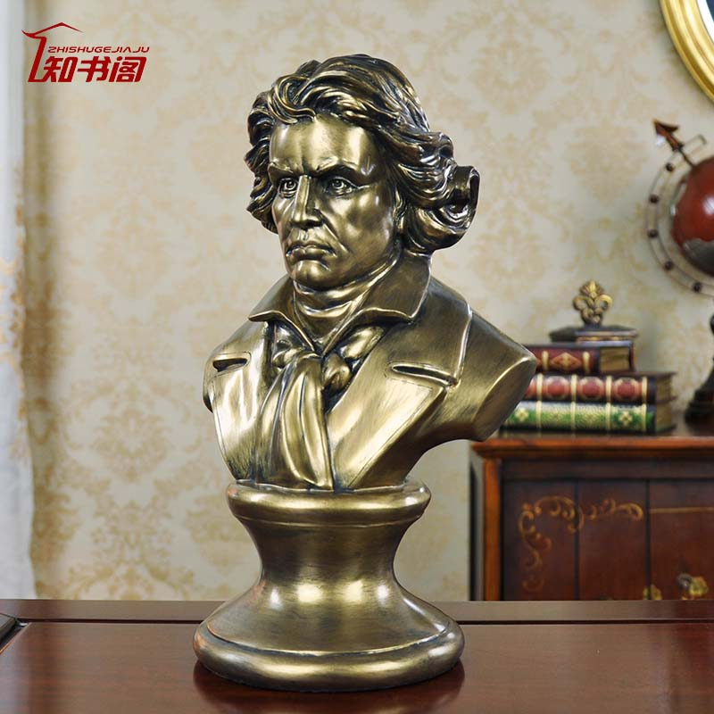 Court notices statues celebrity portrait musician beethoven european home decorations resin sculpture ornaments