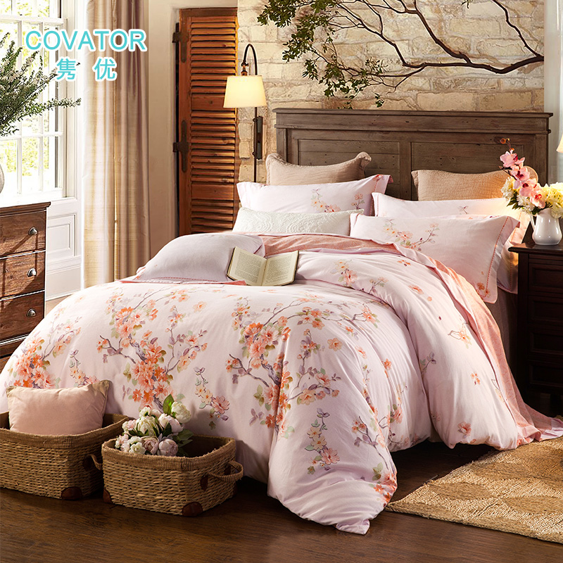 Covator gifted juan cotton reactive printing thick brushed cotton bedding denim bedding cotton cotton flax