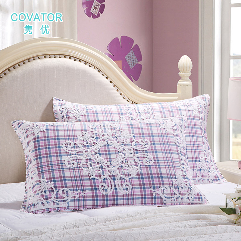 Covator roman palace pillow towel double gauze cotton jacquard pillow covers one pair of lovers to increase soft sweat