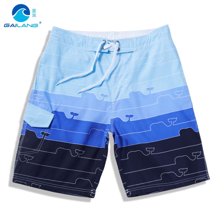 Cover waves authentic korean summer casual loose striped swim shorts fifth big pants beach pants men sugan