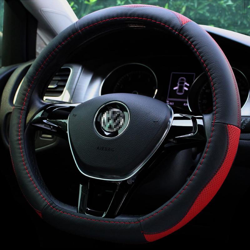 Cowhide leather flat car steering wheel cover d dedicated snow iron dragon new love scotia liesl c4 sega c4l C3xr