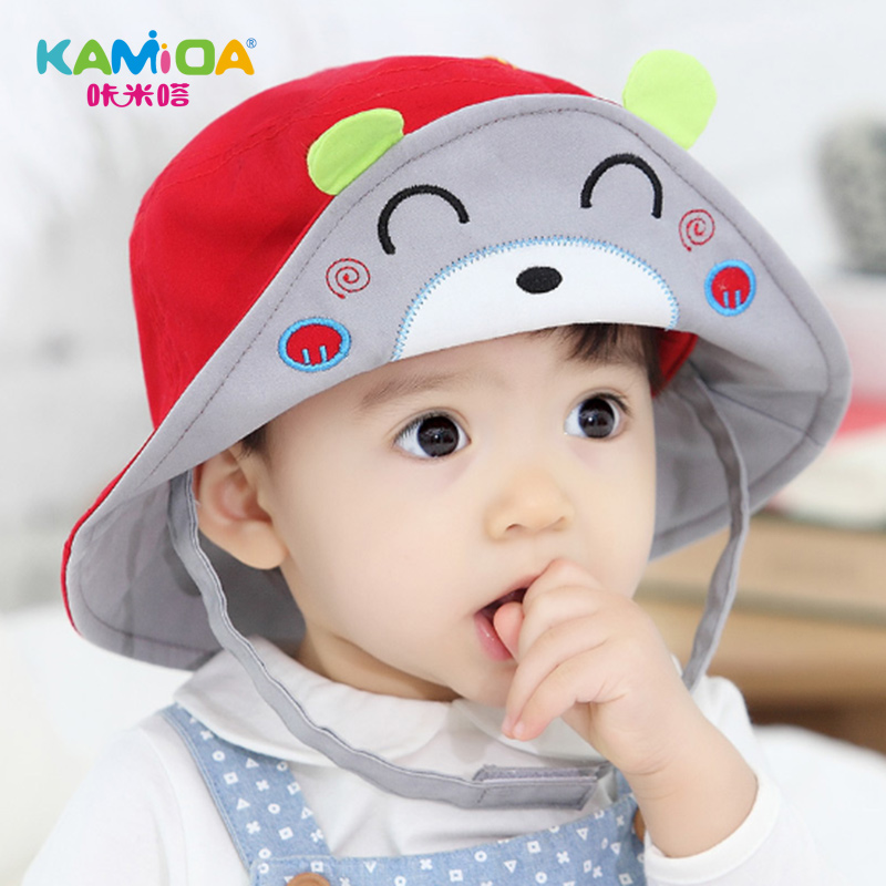 Cracking meters despair female child hat baby hat spring tide male baseball cap visor benn two to three years old cartoon figure