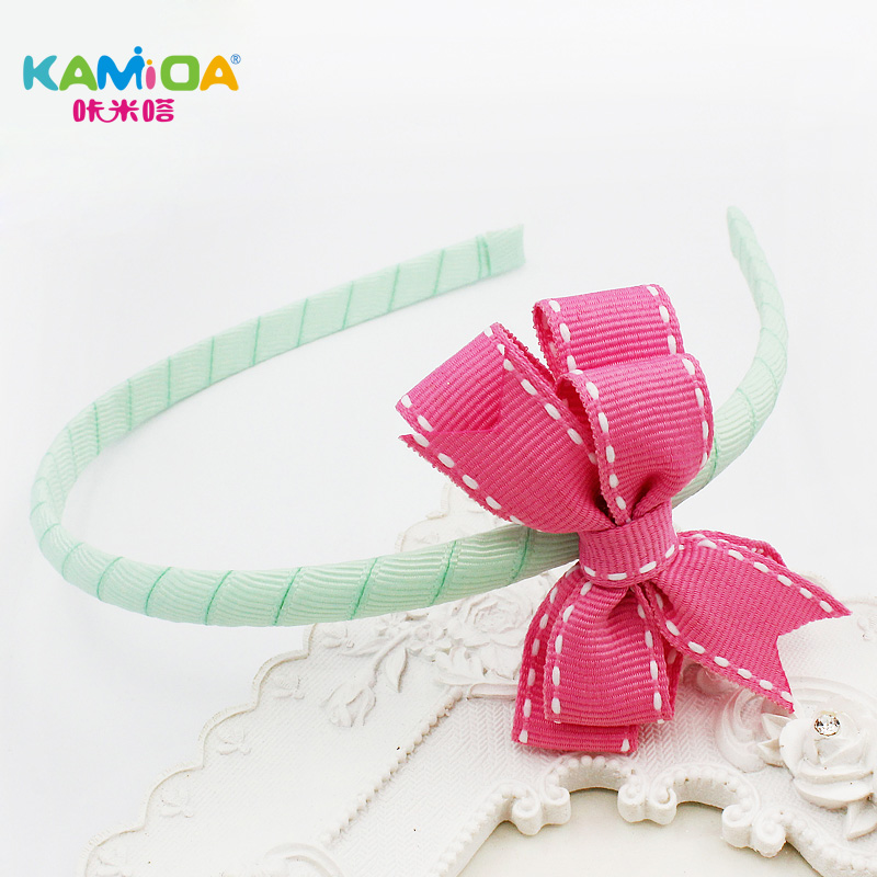 Cracking meters despair kamida korean 2016 new baby girls headband hair bands hair bow head ornaments