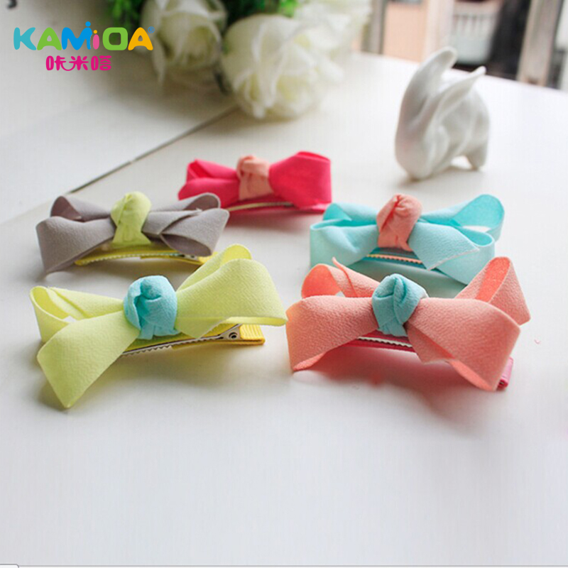 Cracking meters despair korean version of the diy kamida children hairpin headdress small gripper korea chiffon bow hair clip