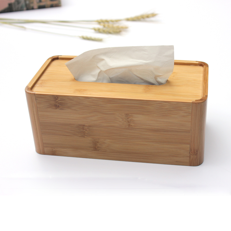 Creative bamboo tissue box home living room modern minimalist wooden car with a tissue box pumping tray desktop storage box