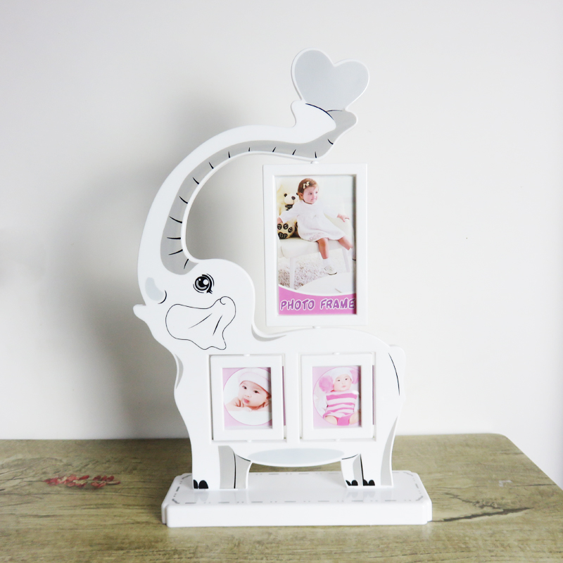 Creative children's cartoon elephant five cute cartoon baby photo frame 7-inch photo frame picture frame swing sets 5 inch photo frame
