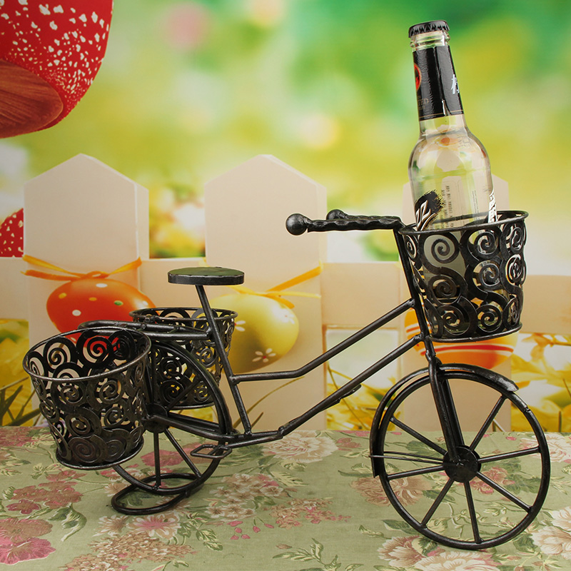 Creative chinese style ornaments minimalist modern home accessories and furnishings ornaments wine rack wine rack wrought iron bicycle