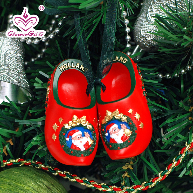 Creative christmas eve christmas tree ornaments holiday ornaments dutch wooden shoes small ornaments birthday gift