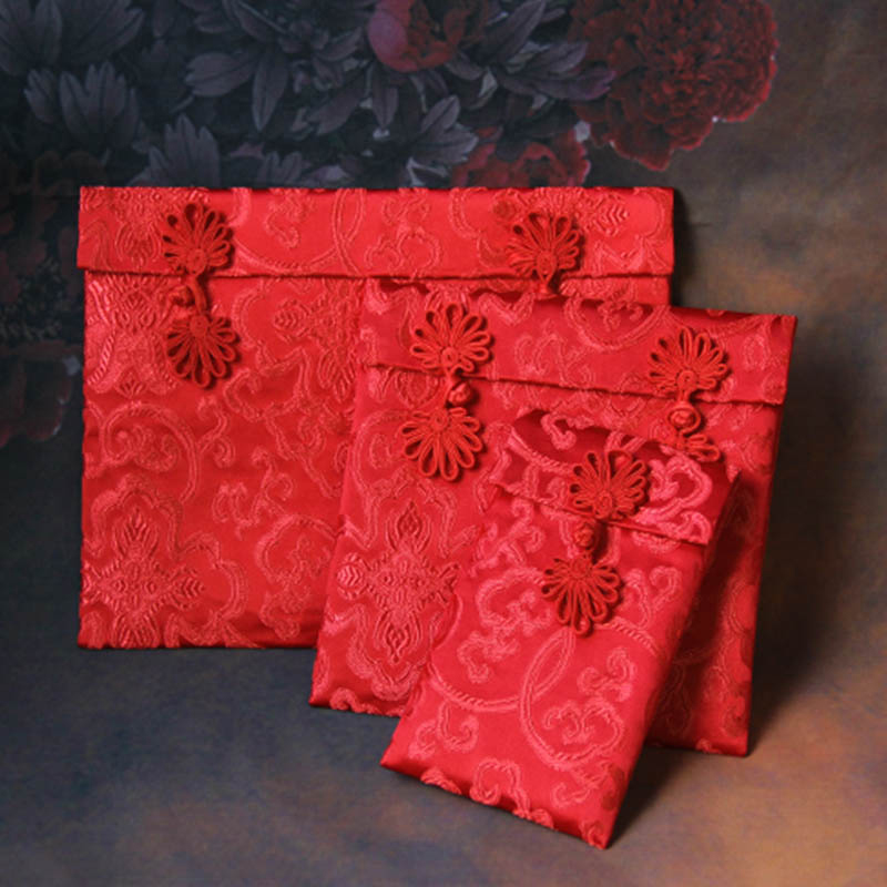Creative fabric silk king married bride red packets oversized ten thousand yuan ten thousand yuan changed to red envelopes gift bag