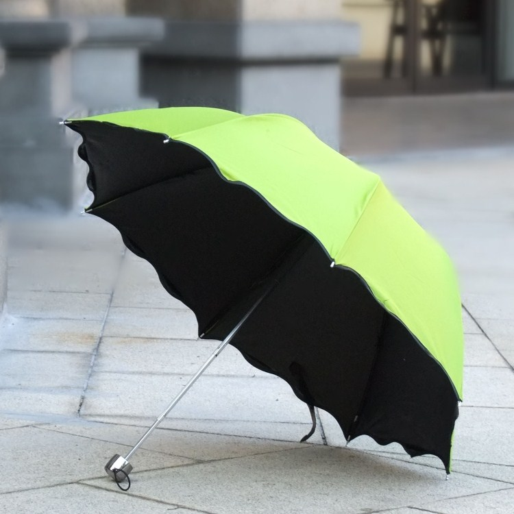 Creative flowering water umbrella folding umbrella female sun umbrella strong uv sunscreen parasol umbrella parasol umbrella vinyl Umbrella